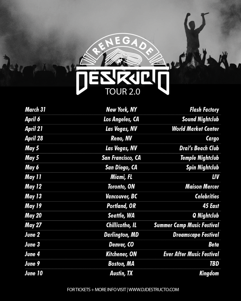 Renegade Tour Dates