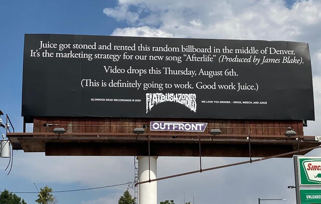 Flatbush Zombies Afterlife Billboard FUXWITHIT